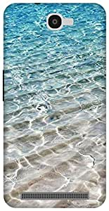 The Racoon Lean Crystal Sea hard plastic printed back case for Alcatel Onetouch Flash 6042D