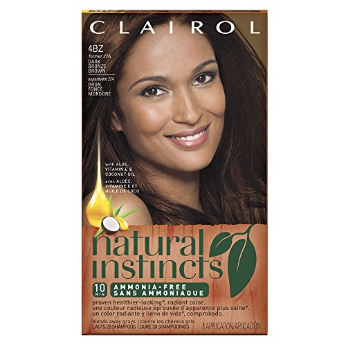 Clairol Natural Instincts, 4BZ / 27A Double Espresso Dark Bronze Brown, Semi-Permanent Hair Color, 1 Kit (Semi Permanent Brown Hair Dye compare prices)