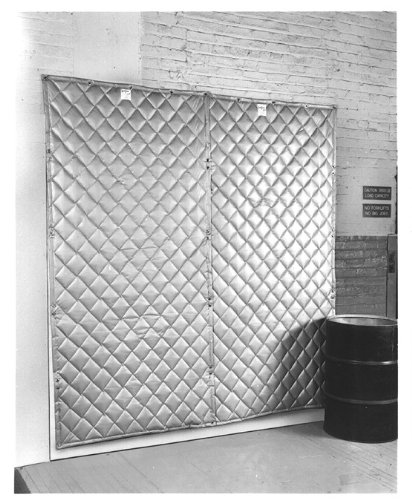 Quilted Fiberglass Acoustic Blanket Panel 2-In Thick 4 X 10 Double Face Barrier Septum