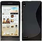 HUAWEI STREAM S 302HW TPUデザインカバーケース ( Y!mobile ワイモバイル ストリーム エス Android スマートフォン 対応 ) 軽量ソフトモデル 手滑り防止グリップ仕様 Design Cover Case 【全3色】 (Design S Black (黒))