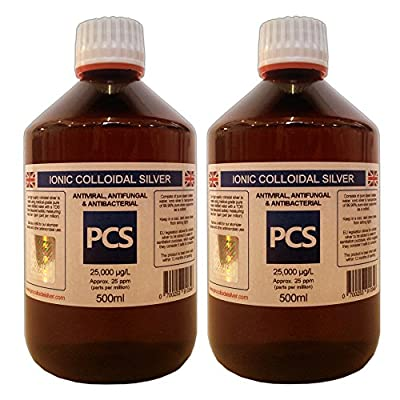 2 x Colloidal Silver 25ppm 500ml (Includes 1st Class P&P!) [2 For 1 Deal]