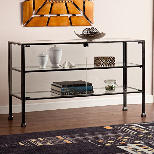 Southern Enterprises Terrarium Display Curio/Console Southern Enterprises 2 Door Cabinet