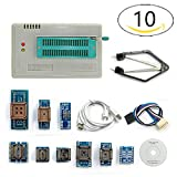 Pic Programmer,TL866A Programmer + 10 Adapters Speed TL866 AVR PIC Bios 51 MCU Flash EPROM Programmer