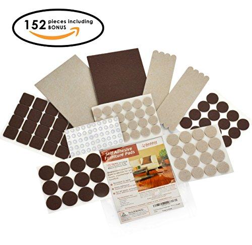 felt-furniture-pads-premium-large-set-152-pieces-brown-beige-with-bonus-rubber-bumper-pads-hardwood-