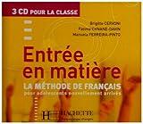 echange, troc Brigitte Cervoni - Entr'e En Matiere Classroom CD