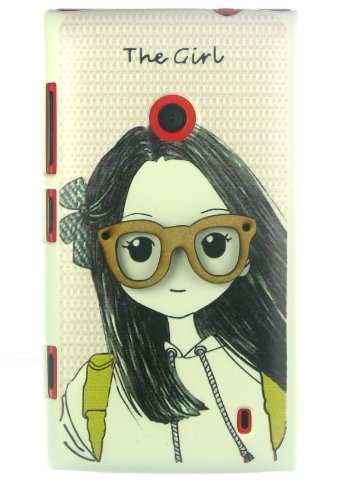 NKCREATIONS 'THE GIRL' BACK COVER CASE FOR NOKIA LUMIA 520 525