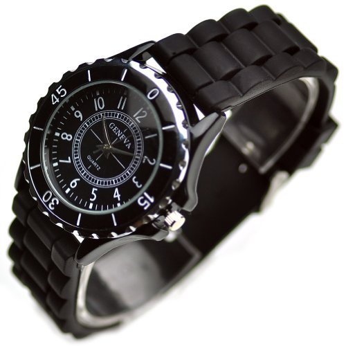 Classic Silicone Women Watch Gifts Stylish Black Fashion Lady Brand Watch for Girl L184-y image