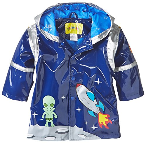 Kidorable Little Boys' Space Hero Raincoat, Blue, 6/6X