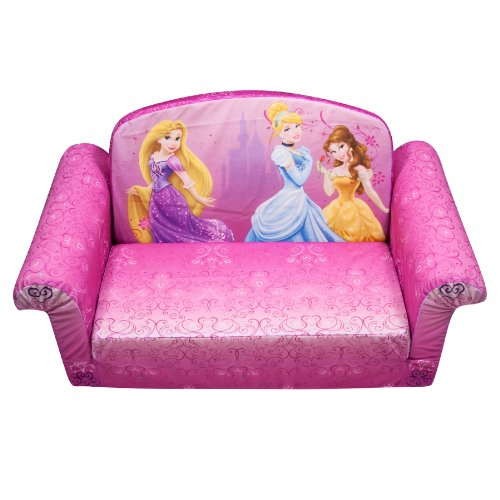 Marshmallow Children's Furniture – 2 in 1 Flip Open Sofa – Disney Princess image