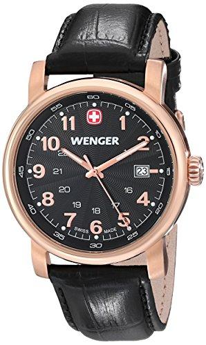 Wenger 011041108 - Reloj de pulsera hombre, piel, color negro