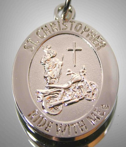 St.+Christopher+%22Ride+with+Me%22+Motorcycle+Medal--Keychain%2C+BH010