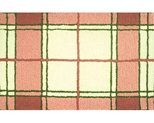 The Rug Market Pink Madras Area Rug, 22 by 34""
