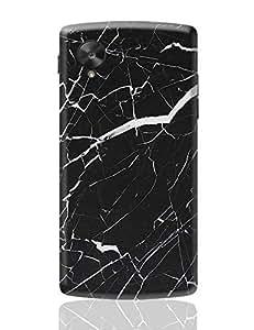 PosterGuy Google Nexus 5 Case Cover - Black Granite Marble | Designed by: Maninder Kaur