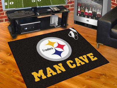 "Pittsburgh Steelers Man Cave All-Star Rug 34""""x45"""""
