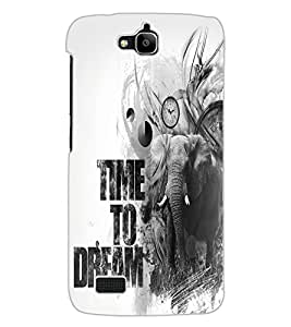 ColourCraft Quote Design Back Case Cover for HUAWEI HONOR HOLLY
