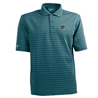 NFL Mens Jacksonville Jaguars Elevate Desert Dry Polo Shirt by Antigua