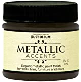 Rust-Oleum Metallic Accents 255332 Decorative 2-Ounce Trail Size Water Based One Part Metallic Finish Paint, Classic Bronze
