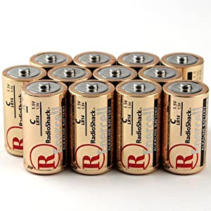 NEW 12-Count/Pack C Batteies Alkaline Enercell RadioShack C-CELL 1.5V LR14 Battery Performance Guaranteed Made by Rayovac