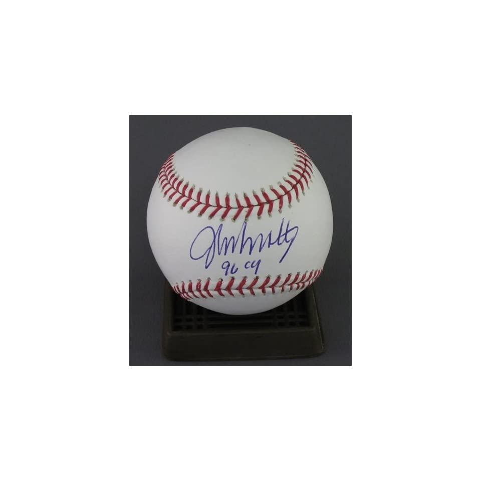 John Smoltz Autographed/Hand Signed MLB Baseball w/96 CY