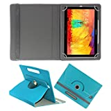 ACM ROTATING 360° LEATHER FLIP CASE FOR SAMSUNG GALAXY NOTE 10.1 P6010 TABLET STAND COVER HOLDER GREENISH BLUE