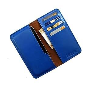 i-KitPit : Genuine Leather Wallet Flip Pouch Case For Motorola Droid Ultra (SKY BLUE)