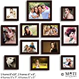 "12 Pc Brown Photo Frame Wall Collage, 1Pc 8"" X 10"",2Pc 6"" X 8"", 5 Pc 5"" X 7"", 4Pc 5"" X 5"""
