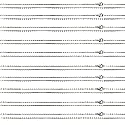 Stainless Steel Cable Chain Necklace Womens Mens Bundle Smooth Lobster Clasp Pouch Included (10PC 20\