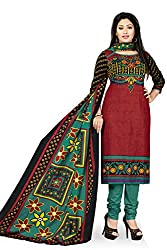 RK Fashion Womens Cotton Un-Stitched Salwar Suit Dupatta Material ( VARIETY-GANPATI-SUPRIYA-208-Multi-Coloured-Free Size)