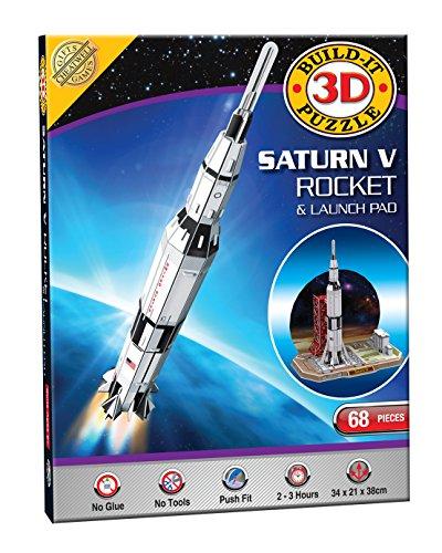 Costruisci il tuo kit modello di puzzle 3D - Saturn V razzo (68 Pezzi)