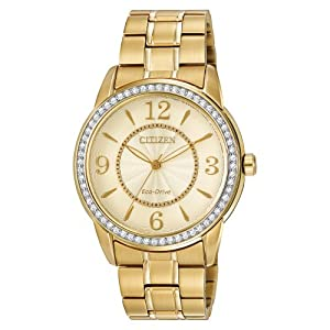 Citizen Eco-Drive Drive Stainless Steel - Gold-Tone Women's watch #FE7002-52P