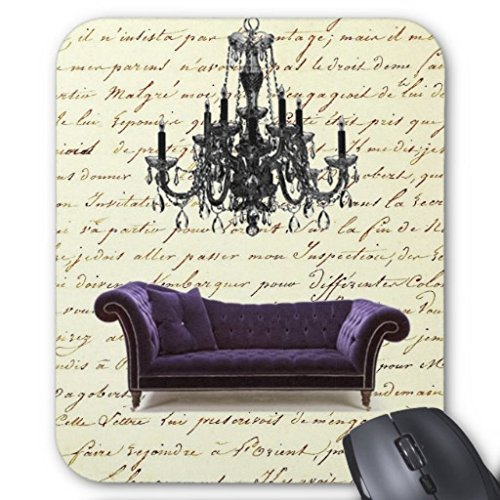 Shabby Chic Vintage Sofa Chandelier Save The Date Mouse Pad 220mm*180mm*3mm