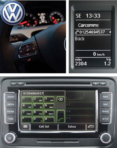 Genuine Latest Volkswagen Handsfree Bluetooth Telephone & Wireless Music Streaming Oem Kit