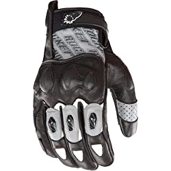 Joe Rocket Supermoto 2.0 Men's Leather Sports Bike Motorcycle Gloves - Gun Metal/Black / Large