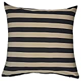 Home Kouture Polyester Single Stripetease Cushion Cover; Gold And Black, 40.64 X 40.64 CM
