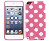 ITALKonline ProGel PINK WHITE POLKA DOT Super Hydro Gel TPU Protective Armour/Case/Skin/Cover/Shell for Apple iPod Touch 5 5G (5th Generation) 8GB, 32GB, 64GB - Solid Black
