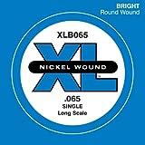 D'Addario XLB065 Nickel Wound Bass Guitar Single String, Long Scale, .065