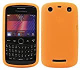ITALKonline Orange Slim Grip Rubber Silicone Case Soft Skin Cover For BlackBerry 9360 Curve