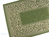 American Mills Entwined Polypropylene Indoor/Outdoor Area Rug, 5-Feet 3-Inch by 7-Feet 6-Inch, Emerald
