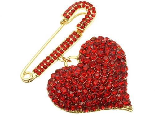 PIN AND BROOCH PIN METAL RED Fashion Jewelry Costume Jewelry fashion accessory Beautiful Charms