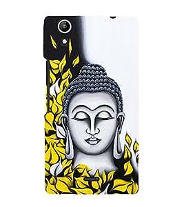 Prasanna Buddha 3D Hard Polycarbonate Designer Back Case Cover for Micromax CanvasSelfie2Q340