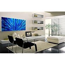 アメリカから直送 メタルアーティスト作 メタルアート 高級インテリアパネル ( お店、オフィス、お部屋、ショップに。 デザイナーズ、ブランド家具にぴったりなモダン絵画。アイアン製で抽象、お洒落、ユニークな壁掛け彫刻 )