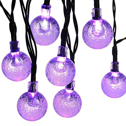 Solar String Lights, 20ft 30 LED Waterproof Outdoor Globe Fairy Lighting for Indoor/Outdoor