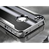 Leegoal(TM) Black Luxury Steel Aluminum Chrome Hard Back Case Cover