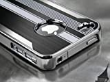 Pandamimi Black Luxury Steel Aluminum Chrome Hard Back Case Cover
