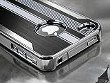 Pandamimi Black Luxury Steel Aluminum Chrome Hard Back Case Cover