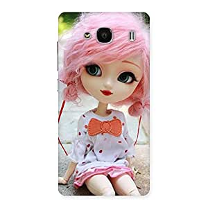 Impressive Pink Doll Back Case Cover for Redmi 2 Prime