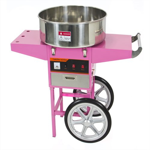 Best Choice Products® Electric Commercial Cotton Candy Machine Cart Kit 1000w Floss Maker Store Booth