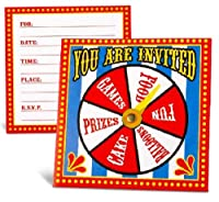 Carnival Spinner Invitations Party Accessory from Oriental Trading Company