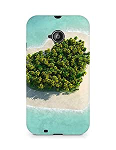 Amez designer printed 3d premium high quality back case cover for Motorola Moto E2 (Heart island)