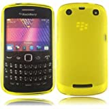 Gel Case Cover Skin For Blackberry 9350 9360 9370 Curve / Yellow
